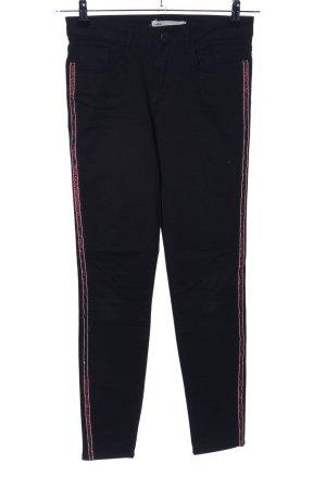 Zara Skinny Jeans schwarz Streifenmuster Casual-Look