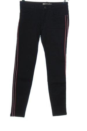 Zara Skinny Jeans Streifenmuster Casual-Look