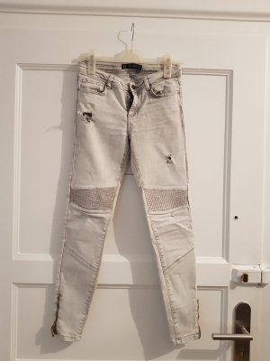 ZARA Skinny-Jeans, Used-Look, Destroyed, low rise
