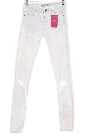Zara Skinny Jeans weiß Casual-Look