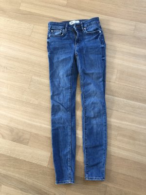Zara 7/8 Length Jeans blue-cornflower blue