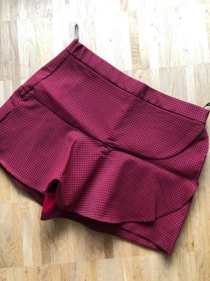 Zara Skort XL 42 neu kariert rot schwarz Hosenrock Shorts Rock