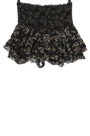 Zara Spódnico-spodenki czarny-w kolorze białej wełny Abstrakcyjny wzór