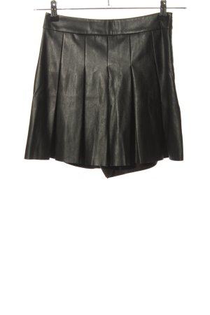 Zara Skorts schwarz Glanz-Optik