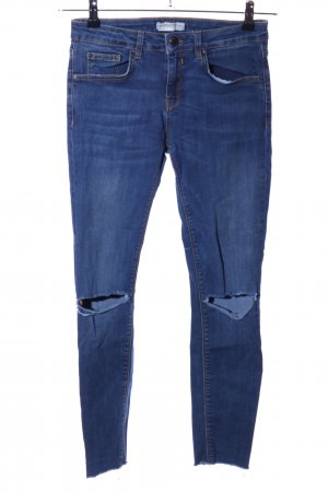 Zara Slim Jeans blau Casual-Look