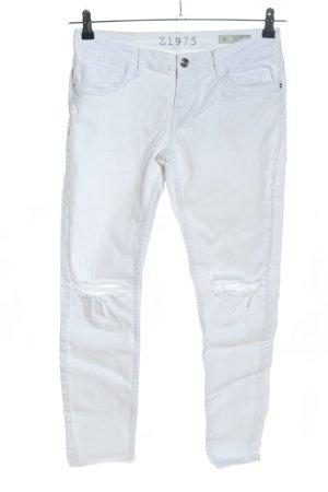 Zara Slim Jeans weiß Casual-Look