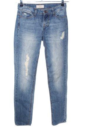 Zara Slim Jeans blau Street-Fashion-Look