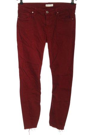 Zara Slim Jeans rot Casual-Look