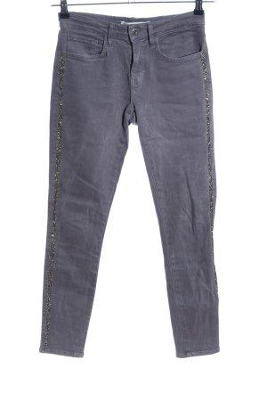 Zara Slim Jeans hellgrau Casual-Look
