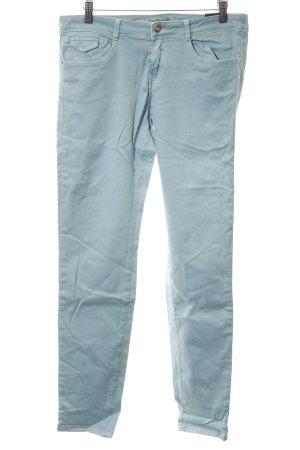 Zara Slim Jeans türkis Casual-Look