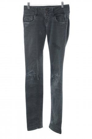 Zara Slim Jeans grau Metallelemente