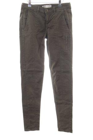 Zara Slim Jeans grüngrau Casual-Look