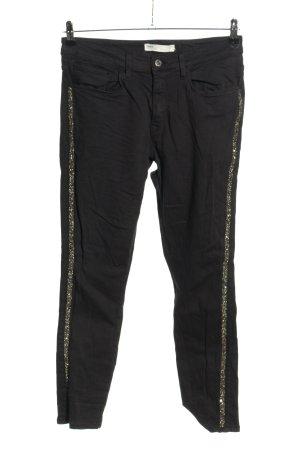 Zara Slim Jeans schwarz-silberfarben Casual-Look