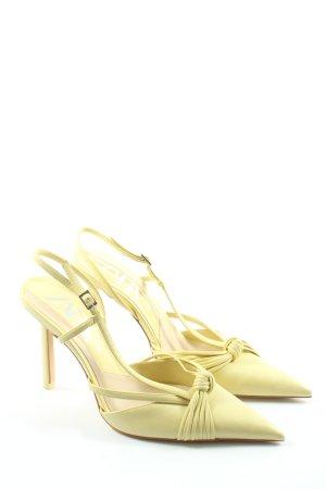 Zara Escarpin à bride arrière jaune primevère style décontracté