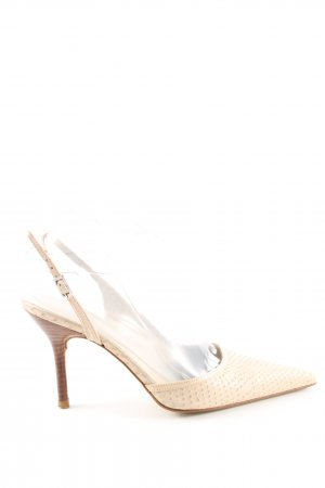 Zara Slingback Pumps natural white casual look