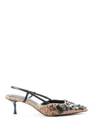 Zara Slingback pumps wolwit-zwart elegant