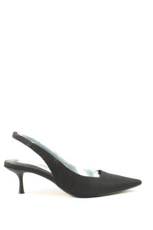 Zara Czółenka z paskiem za piętą czarny W stylu casual