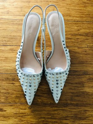 Zara Slingback Pumps white leather