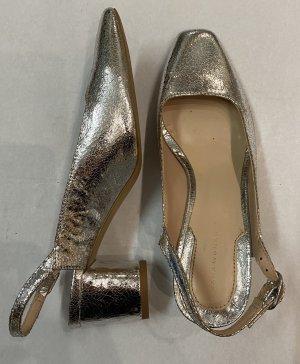 Zara Ballerina aperta sul tallone argento
