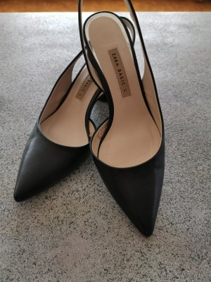 Zara Slingbacks schwarz silber Gr. 37