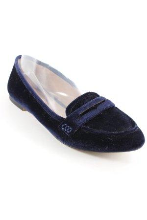 Zara Slipper dunkelblau Business-Look