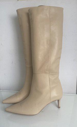 Zara Bottes plissées crème-brun sable