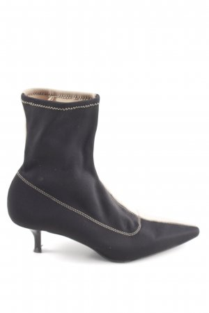 Zara Stivaletto arricciato nero-beige stile da moda di strada