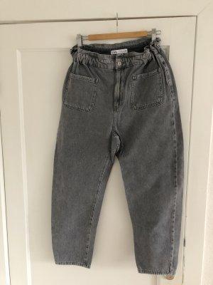 Zara Jeans boyfriend grigio-grigio chiaro