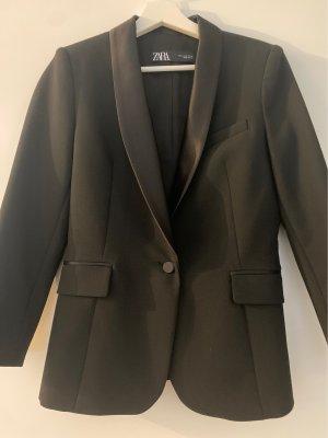 Zara Woman Smokingblazer zwart