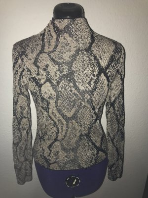 Zara Snake Animalprint Glitzer Strick Pullover Gr. S neu mit Etikett