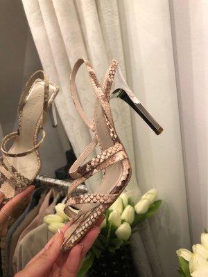 Zara Snake Print Heels