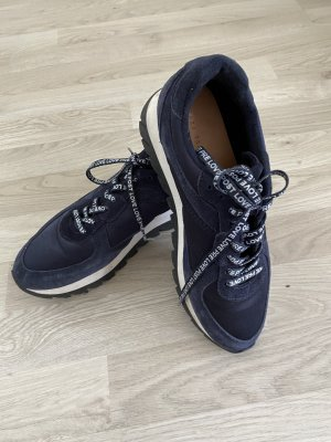 Zara Sneaker 38 Dunkelblau Plateau