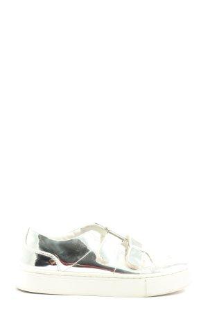 Zara Hook-and-loop fastener Sneakers silver-colored casual look