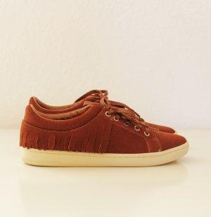 Zara Sneaker Schuhe mit Fransen braun Gr. 36 neu
