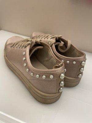 Zara Sneaker Turnschuhe altrosa mit Perlen 39 40