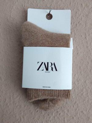 Zara Legwarmers beige wool