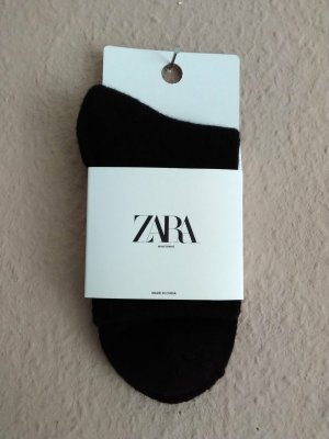 Zara Legwarmers black wool
