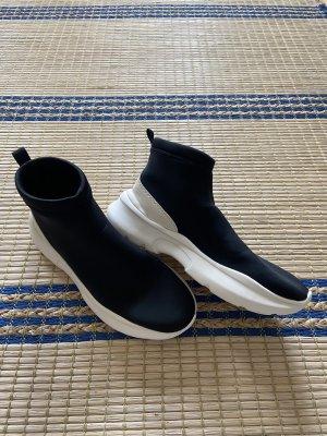 Zara Socken Sneakers Neopren Plateau