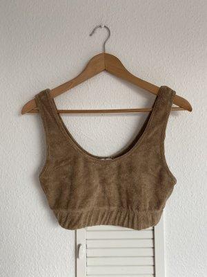 Zara soft Crop top braun M neu