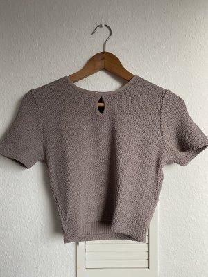 Zara soft Crop top taupe M neu