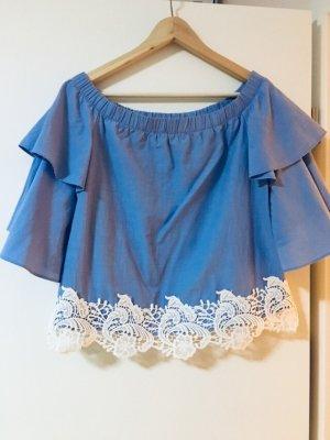 Zara sommer Bluse Top Shirt Spitze