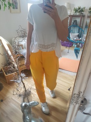 Zara Sommer Hose gelb xs s