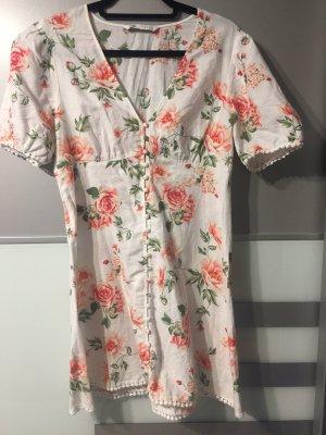ZARA Sommer Kleid floral Leinen M