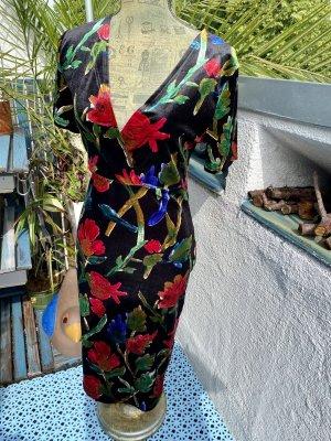 Zara Sommer Kleid schwarz mit Floralen Muster . L