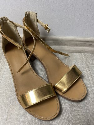 Zara Outdoor Sandals gold-colored