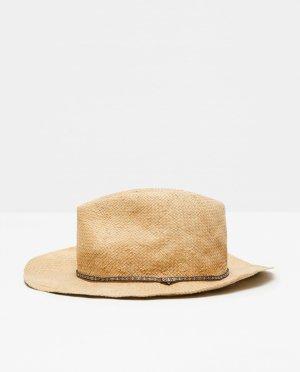 Zara Accesoires Cappello da cowboy giallo-oro-color carne Legno