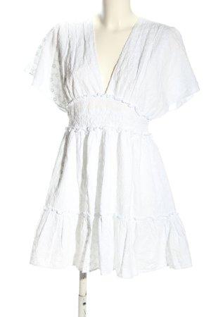 Zara Sommerkleid weiß Casual-Look
