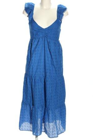 Zara Sommerkleid blau Allover-Druck Casual-Look