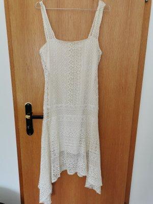 Zara Sukienka plażowa kremowy
