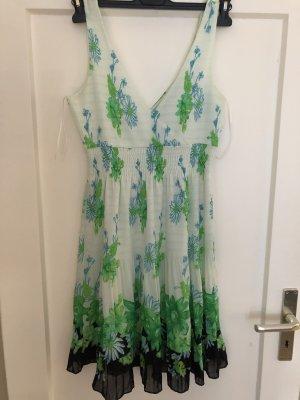 Zara Basic Blousejurk wit-lichtgroen Polyester